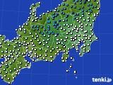 2019年01月11日の関東・甲信地方のアメダス(気温)
