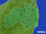 福島県のアメダス実況(風向・風速)(2019年01月11日)