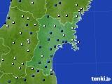 2019年01月11日の宮城県のアメダス(風向・風速)