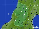 2019年01月11日の山形県のアメダス(風向・風速)
