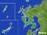 2019年01月13日の長崎県のアメダス(風向・風速)