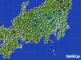 2019年01月16日の関東・甲信地方のアメダス(風向・風速)