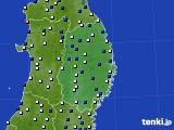 2019年01月17日の岩手県のアメダス(風向・風速)