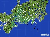 東海地方のアメダス実況(風向・風速)(2019年01月18日)