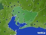 愛知県のアメダス実況(風向・風速)(2019年01月18日)