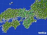 近畿地方のアメダス実況(気温)(2019年01月19日)