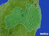 福島県のアメダス実況(風向・風速)(2019年01月20日)