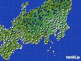 2019年01月22日の関東・甲信地方のアメダス(気温)