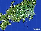 2019年01月22日の関東・甲信地方のアメダス(風向・風速)