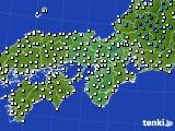 2019年01月23日の近畿地方のアメダス(気温)