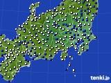 2019年01月24日の関東・甲信地方のアメダス(風向・風速)