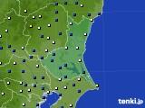 2019年01月24日の茨城県のアメダス(風向・風速)