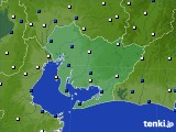 愛知県のアメダス実況(風向・風速)(2019年01月24日)