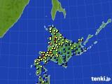 北海道地方のアメダス実況(積雪深)(2019年01月25日)