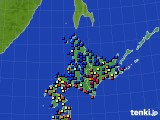 北海道地方のアメダス実況(日照時間)(2019年01月25日)