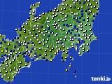 2019年01月26日の関東・甲信地方のアメダス(風向・風速)