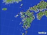 九州地方のアメダス実況(風向・風速)(2019年01月26日)