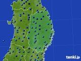 2019年01月27日の岩手県のアメダス(気温)