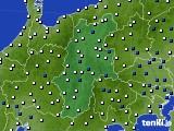 2019年01月29日の長野県のアメダス(風向・風速)