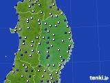 2019年01月29日の岩手県のアメダス(風向・風速)