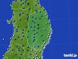 2019年01月30日の岩手県のアメダス(気温)