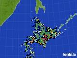 北海道地方のアメダス実況(日照時間)(2019年01月31日)
