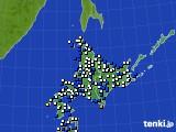 北海道地方のアメダス実況(風向・風速)(2019年01月31日)
