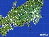 2019年01月31日の関東・甲信地方のアメダス(風向・風速)