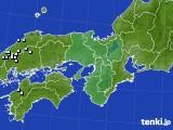 近畿地方のアメダス実況(降水量)(2019年02月01日)