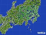 2019年02月01日の関東・甲信地方のアメダス(風向・風速)