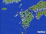 九州地方のアメダス実況(風向・風速)(2019年02月01日)