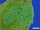 福島県のアメダス実況(風向・風速)(2019年02月01日)