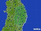 2019年02月01日の岩手県のアメダス(風向・風速)