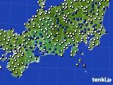 東海地方のアメダス実況(風向・風速)(2019年02月04日)