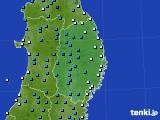 2019年02月06日の岩手県のアメダス(気温)