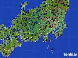 2019年02月07日の関東・甲信地方のアメダス(日照時間)