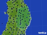 2019年02月08日の岩手県のアメダス(気温)