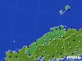 島根県のアメダス実況(風向・風速)(2019年02月09日)