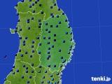 2019年02月10日の岩手県のアメダス(気温)