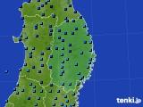 2019年02月11日の岩手県のアメダス(気温)