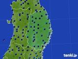 2019年02月12日の岩手県のアメダス(気温)