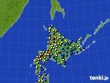 北海道地方のアメダス実況(積雪深)(2019年02月13日)