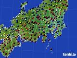 関東・甲信地方のアメダス実況(日照時間)(2019年02月13日)