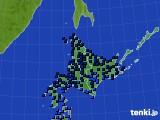 北海道地方のアメダス実況(気温)(2019年02月13日)