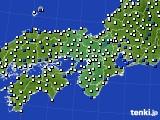近畿地方のアメダス実況(風向・風速)(2019年02月13日)