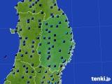 2019年02月14日の岩手県のアメダス(気温)