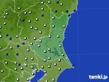 2019年02月14日の茨城県のアメダス(風向・風速)