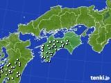 四国地方のアメダス実況(降水量)(2019年02月15日)