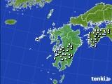 九州地方のアメダス実況(降水量)(2019年02月15日)