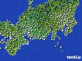 東海地方のアメダス実況(気温)(2019年02月16日)
